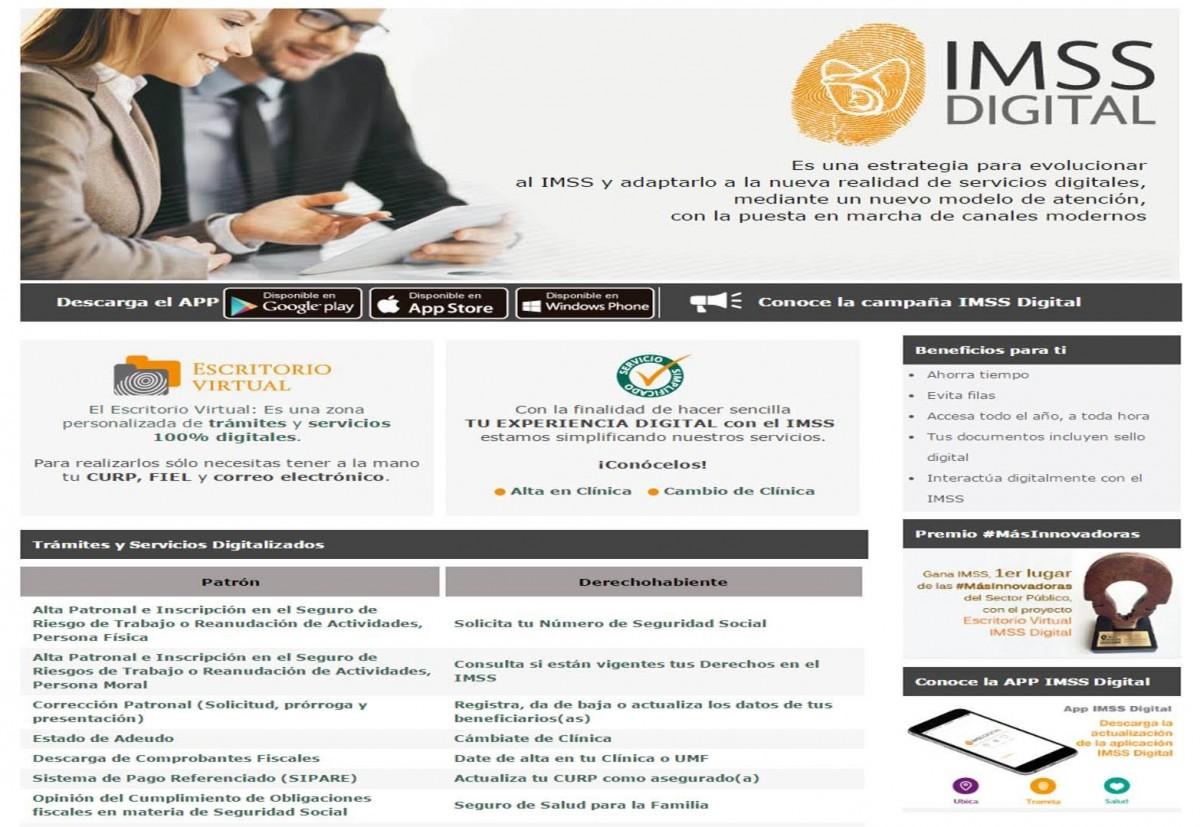 IMSS Digital facilita su plataforma para realizar los trámites de ...