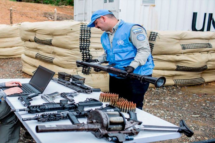ONU certifica entrega de siete mil 132 armas de las FARC