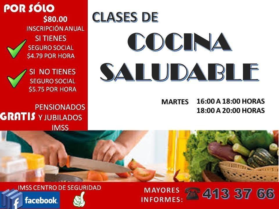 Imss invita a inscribirse a clases de cocina saludable en for Cocina saludable