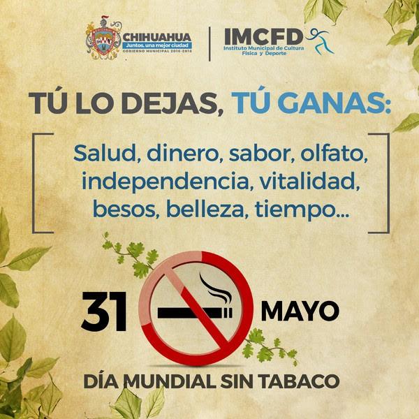 Celebraron el Día Mundial sin Tabaco