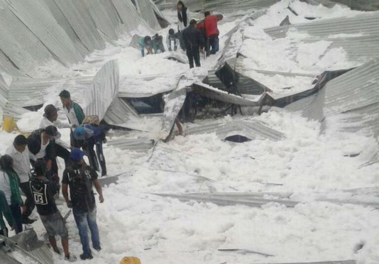 Fuerte granizada causa dos muertes y 17 heridos en Sucre