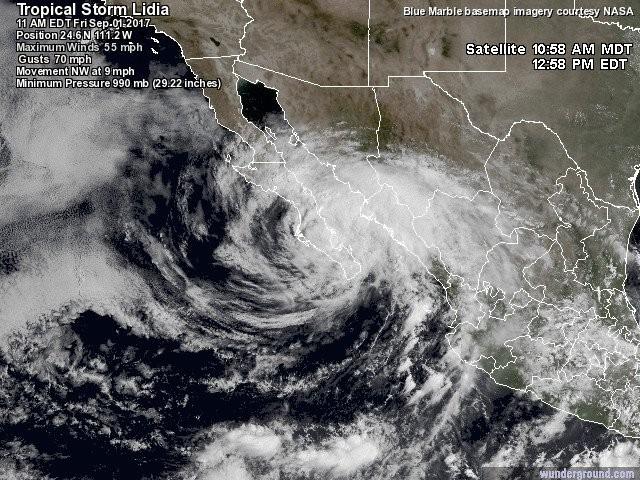 Continuará mal tiempo: Lidia azota Baja California y afecta varias entidades