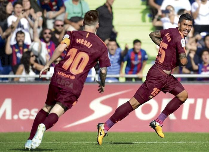 Ousmane Dembelé salió lesionado del encuentro entre Barcelona y Getafe