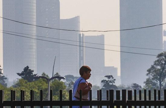 Aire contaminado en el Valle de México
