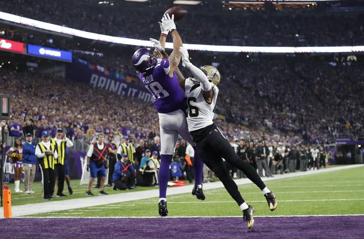 En dramático duelo, Vikings vencen en casa a Saints