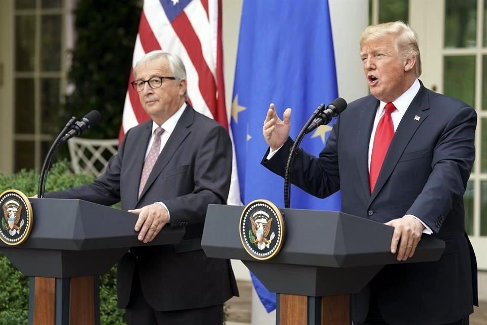 Trump y la UE acordaron una reducción mutua de aranceles