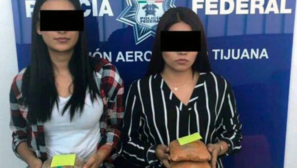 Atrapan a mujeres con droga pegada en las nalgas — Tijuana