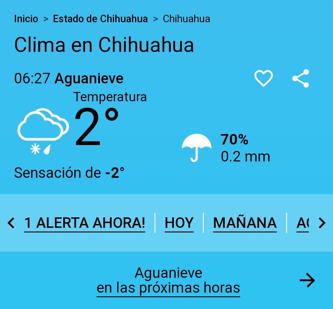 Fría mañana en Chihuahua, baja a 2º la temperatura con sensación a -2º - Omnia