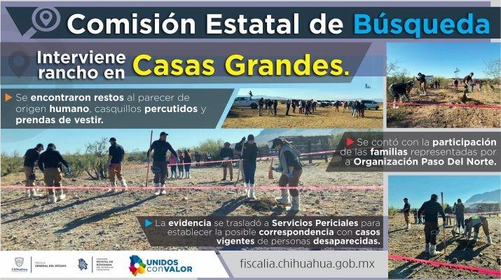 Aseguran rancho en Casas Grandes con restos humanos - Omnia